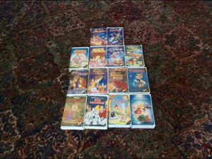 Disney Home Video THE CLASSICS Collection Set of 14 VHS Animated Films Bambi Robin Hood Alice Pinocchio Peter Pan Aladdin Dumbo and More $20 for Sale in Tacoma, WA