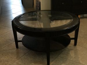 Large Round Coffee Table - Expresso for Sale in Cypress Gardens, FL
