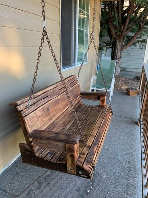 "I build porch swing this particular one is an example length is 50""×22""1/2 anything bigger $ will change for Sale in Woodburn, OR"
