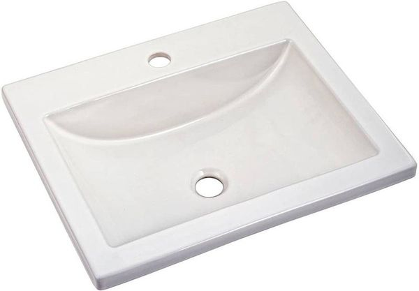 White American Standard Studio Drop In Bathroom Sink