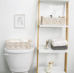 Brand new Storage Baskets Decor Box Handmade set of 2 Woven Decorative Countertop Toilet Tank Shelf Cabinet Organizer Boho Decor for Bedroom Nursery for Sale in Beverly Hills,  CA