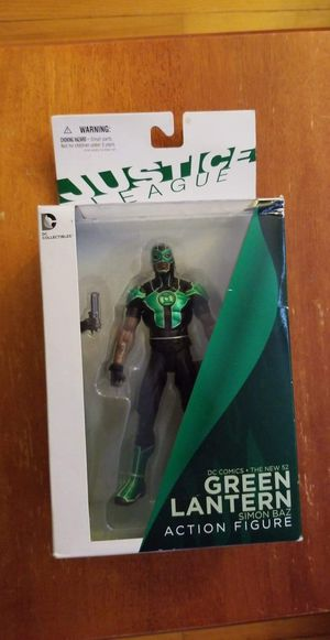 DC COLLECTIBLES GREEN LANTERN SIMON BAZ ACTION FIGURE NEW 52 JUSTICE LEAGUE(NIB) for Sale in West Haven, CT