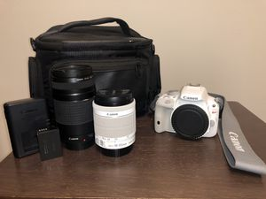 Canon EOS Rebel SL1 18MP Touchscreen Full HD DSLR Camera Kit with 18-55mm IS and 75-300mm Lenses, Case and Software for Sale in Greensboro, NC