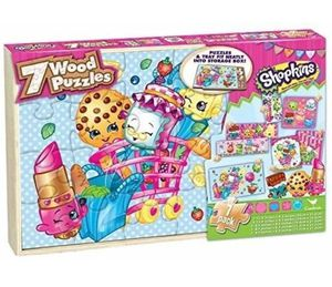 Shopkins Wood Puzzles Tray Set (7 Pack) for Sale in San Jose, CA