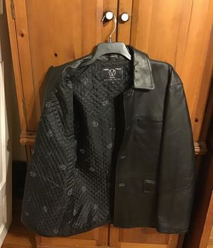 XXL Vera Pelle Valent Genuine Leather jacket, made in Italy for Sale in St. Louis, MO