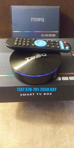 Disc Shape Android TV Live Box! 4K HDR! So strong you can play video games! Much more powerful than a stick! for Sale in Atlanta,  GA
