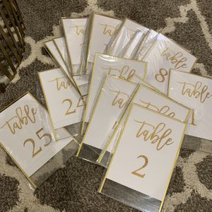 Table Numbers (#1-25) - Brand New - Double-sided for Sale in Livermore, CA