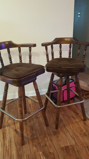 Wooden swivel chairs for Sale in Dixon, CA