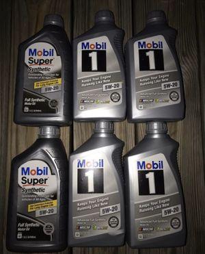 Mobil oil 5w30 & 5w20 full full synthetic for Sale in Fairfax, VA