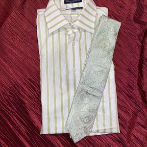 Paul Fredrick Impeccable Non-Iron Cotton Stripe Dress Shirt (Size 15.5 X 34) for Sale in Alexandria, VA