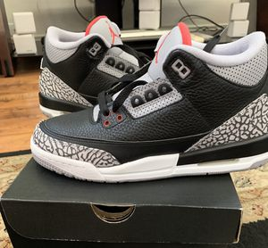 Jordan 3 Black Cement 3 Size 7y worn once for Sale in San Diego, CA
