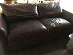 2 leather couches for Sale in Millersville, MD