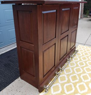 "PORTABLE Wooden BAR/CABINET Closed measures 24"" x 24"" x 43"" H. Extensions are 18"" x 2 = 36"" Additional. Open measurements are 60"" W x 24 D x 43"" H. for Sale in Arvada, CO"