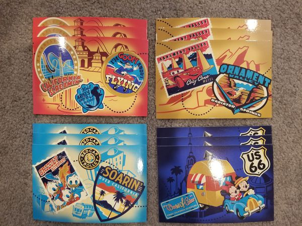 Box of Disney California Adventure postcards - NEW