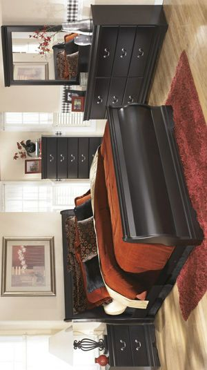 🧿BRAND NEW 🧿SPECIAL] Huey Vineyard Black Sleigh Bedroom Set for Sale in Jessup, MD