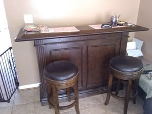 Bar front, back and two stools for Sale in Bristow, VA