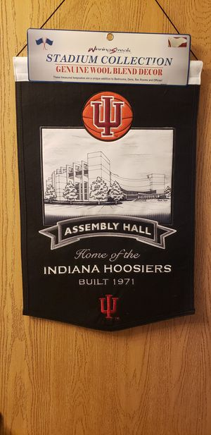 IU Indiana Hoosiers Assembly Hall Stadium Banner Wool banner winning streak for Sale in Plainfield, IL