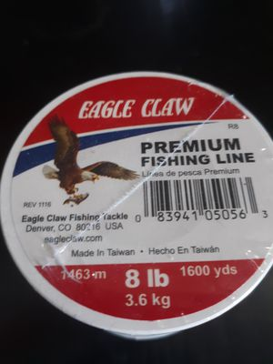 Eagle Claw fishing line 8 lb for Sale in Albuquerque, NM