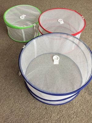 Set of 3 Mesh food covers. Collapsible for Sale in Greenwood, DE