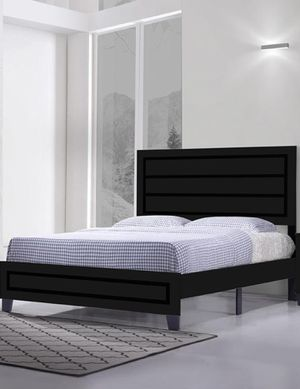 Brand New Queen Size Black Wood Platform Bed Frame ONLY (White Available) for Sale in Wheaton-Glenmont, MD