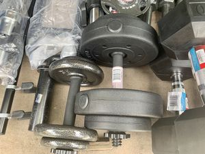 Adjustable dumbbells sets 40 lbs total for Sale in Davie, FL