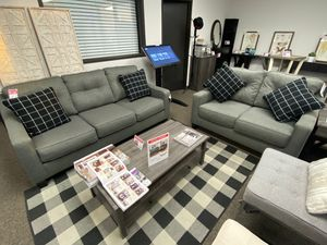 2 PC Sofa and Loveaseat Set, Grey for Sale in Pico Rivera, CA