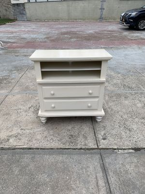 Off white wood dresser with storage shelves for Sale in Queens, NY