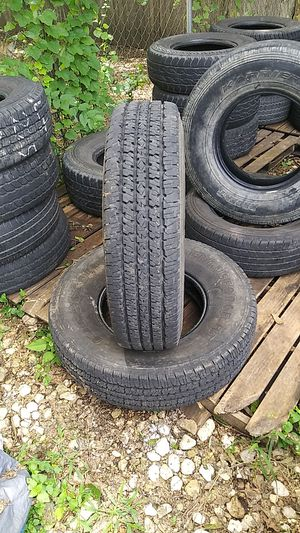 235.85.16.trailer tires.like brand new.100 bucks for both. for Sale in Fort Worth, TX