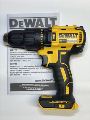 DEWALT 20-Volt MAX Lithium-Ion 2-Speed Cordless Brushless 1/2 in. Compact Hammer Drill. Tool Only. CLICK ON MY PROFILE ⬇️ For my other offers! for Sale in Chicago, IL
