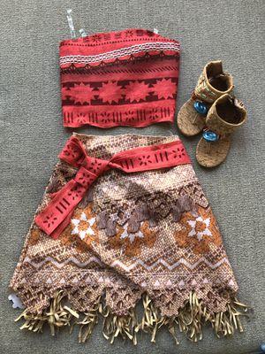 Girls Moana costume w/ sandal for Sale in Alameda, CA