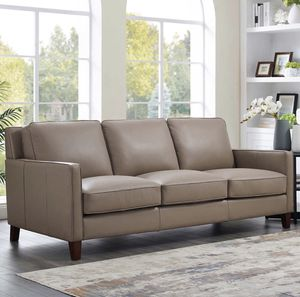 Luxurious Full Leather Sofa (set also available) for Sale in Yorba Linda, CA