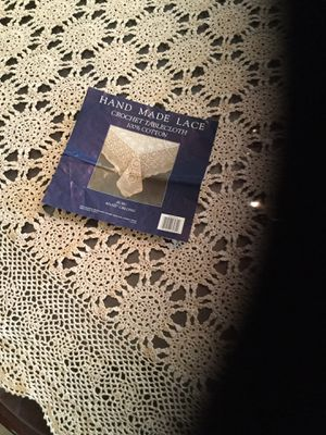 Handmade crochet tablecloth for Sale in Hagerstown, MD