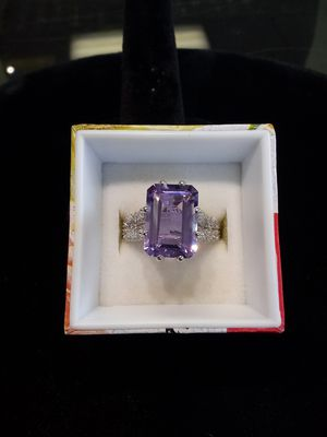 Silver purple ring for Sale in West Linn, OR