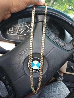 14k gold plated dipped in real gold chain for Sale in Miami, FL