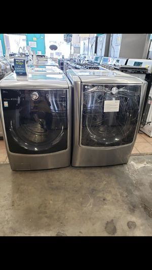 Brand New in Box LG Black Stainless Signature Top of the line Front Load Washer Dryer 1 year Manufacture warranty for Sale in Dublin, CA