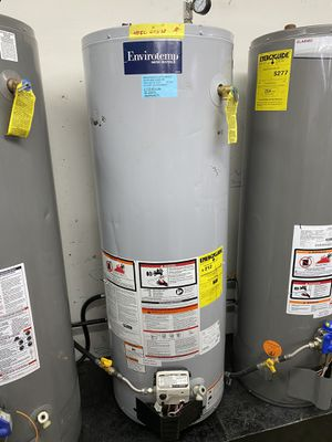 "NEW 40 GALLONS GAS WATER HEATER ENVIROTEMP 20""x 58"" 90days warranty garantia por escrito for Sale in Dallas, TX"