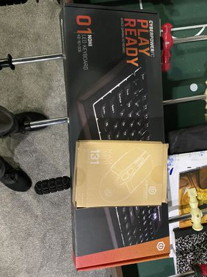 Cyber pc light mouse and wired keyboard combo for Sale in Buffalo, NY