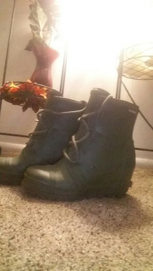 Green wedge Sorel rain boots (women) for Sale in Sandy, UT