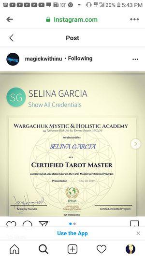 Reiki master n tarot MASTER for Sale in Las Vegas, NV