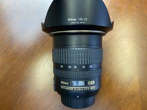 Nikon AF-S DX NIKKOR 12-24mm f/4G IF-ED Zoom Lens with Auto Focus for Nikon DSLR Cameras for Sale in Los Angeles, CA