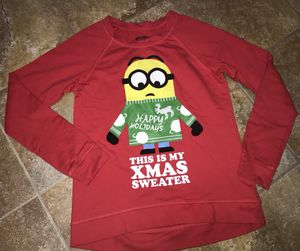 Despicable Me Minion Size Medium Womens Ugly Christmas Sweater Shirt Holiday for Sale for sale  Hesperia, CA