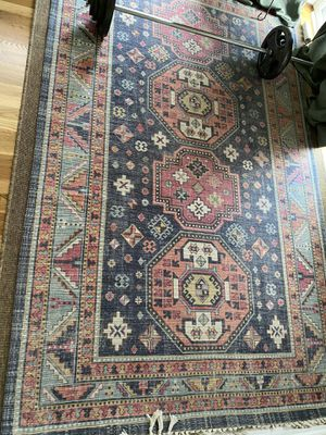 Two 5x8 very gently used Market Rugs for sale. In great condition. $60/each or $100 for the pair. See original ad in photos. From pet free, non smoki for Sale in Atlanta, GA