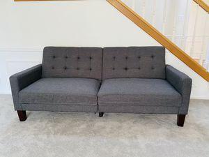 """76"""" Gray Futon Sofa for Sale in Bellevue, WA"""