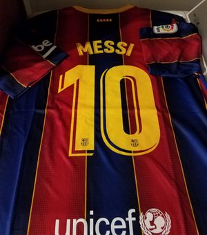 20/21 FC BARCELONA MESSI HOME JERSEY for Sale in Montebello, CA