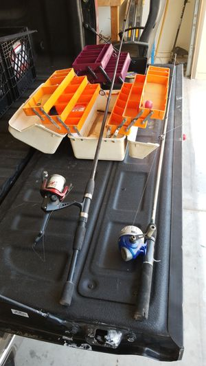 Fishing rods, tackle boxes, and misc. Accessories for Sale in Queen Creek, AZ