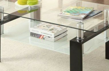 Industrial glass coffee table for Sale in San Leandro,  CA