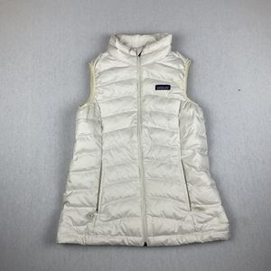 Patagonia Kids Down Sweater White Puffer Full Zip Vest Size Youth Large 12 for Sale in Los Angeles, CA