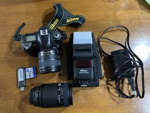 Nikon D70 with 2 lenses, flash and accessories for Sale in Arlington, VA