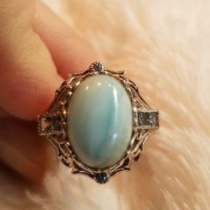 Exquisite Genuine Larimar Ring for Sale in Gainesville, VA