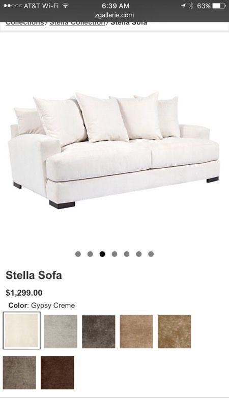 Z Gallerie Stella Sofa In Gypsy Cream For Sale In Seattle Wa